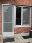 Deur met vast raam (rolluik uit 2 delen)